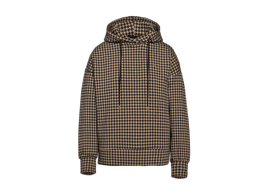 Florence Hooded Sweater – Black / Desert