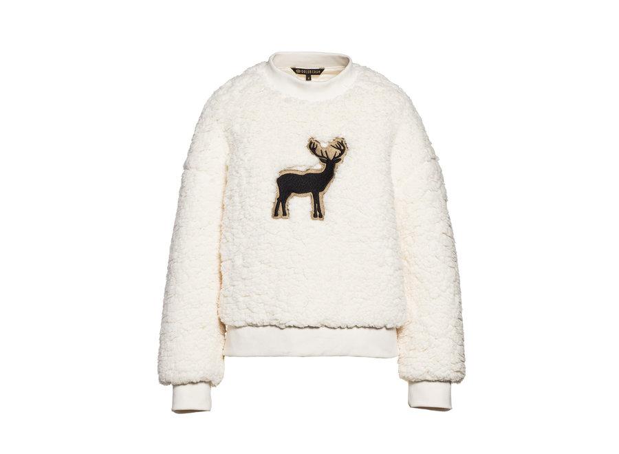 Deer Teddy Sweater – Off White