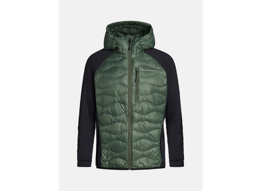 Helium Hybrid Hood Jacket – Thrill Green