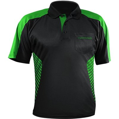 Harrows Vivid Dartshirt Black & Green
