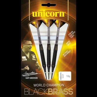 Unicorn Gary Anderson World Champion Black Brass Soft Tip
