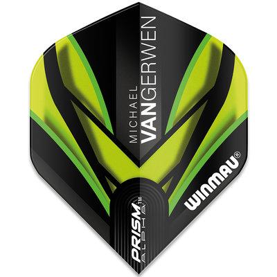 Michael van Gerwen Prism Alpha Black Green Ailettes V2