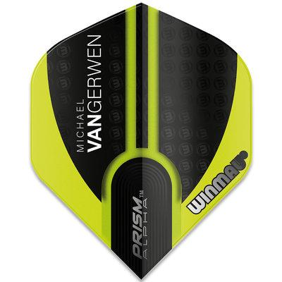Michael van Gerwen Prism Alpha Black Green Ailettes V1