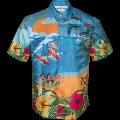 Wayne Mardle Hawaii 501 Chemise de Fléchettes