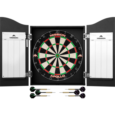 Cible Mission Darts Centre Black