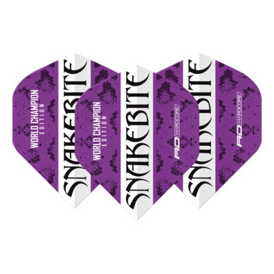 Snakebite World Champion 2020 Purple & White Ailettess