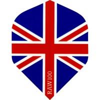 RAW RAW 100 Union Jack Ailettes Red White & Blue