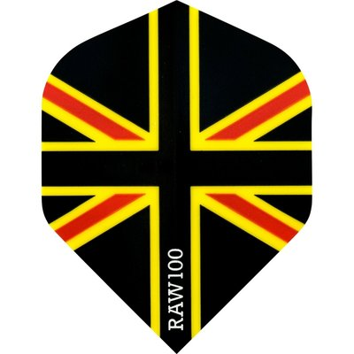 RAW 100 Union Jack Ailettes Black Red & Yellow