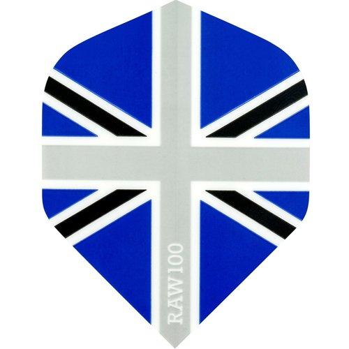 RAW RAW 100 Union Jack Ailettes Black & Blue