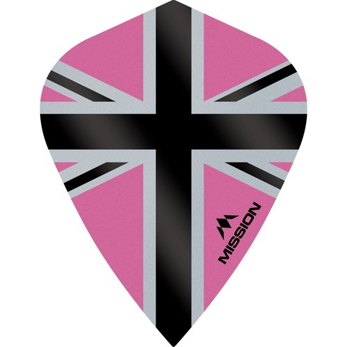 Mission Ailette Mission Alliance-X 100 Pink & Black Kite
