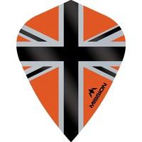 Mission Ailette Mission Alliance-X 100 Orange & Black Kite