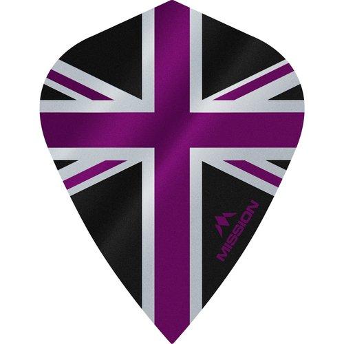 Mission Ailette Mission Alliance 100 Black & Purple Kite