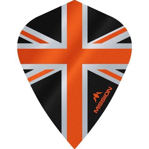 Mission Ailette Mission Alliance 100 Black & Orange Kite
