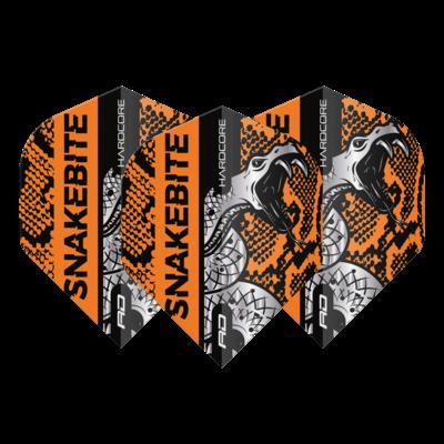 Ailette Peter Wright Hardcore Snakebite Coiled Snake Orange