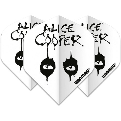 Winmau Ailette Winmau Rock Legends Alice Cooper White