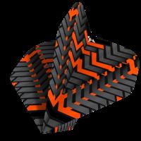Mission Ailette Mission Vex NO2 Black & Orange