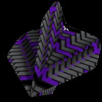 Mission Ailette Mission Vex NO2 Black & Purple