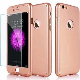Merkloos Slim Fit 360 graden Lichtgewicht harde beschermende huid hoesje Case voor iPhone 7 Plus 5.5 inch Rose Goud
