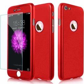 Merkloos Slim Fit 360 graden Lichtgewicht harde beschermende huid hoesje Case voor iPhone 7 Plus 5.5 inch Rood