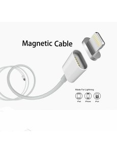 Merkloos Magnetisch 1 meter data oplader en Lightning kabel voor iPhone 7 / 7 Plus / iPhone 6 / 6 Plus / 6S / 6S Plus / iPhone 5 / iPhone 5C / iPhone 5S / iPad Series sliver