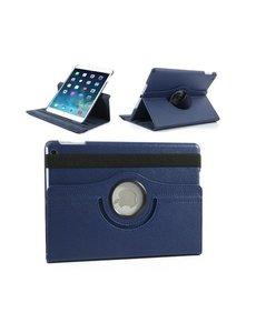 Merkloos Apple iPad Air 2 – 360 graden draaibare hoesje – Lederen – Donker Blauw