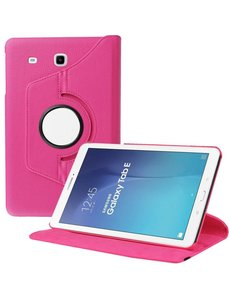Merkloos Samsung Galaxy Tab E 9.6 inch SM - T560 / T561 Tablet Case met 360° draaistand cover hoesje - Pink