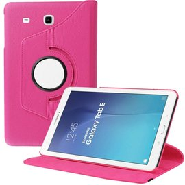 Merkloos Samsung Galaxy Tab E 9.6 inch SM - T560 / T561 Tablet Case met 360° draaistand cover hoes kleur Pink