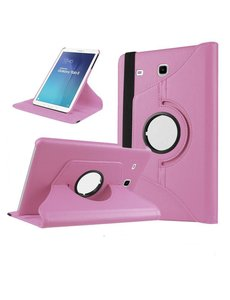 Merkloos Samsung Galaxy Tab A 9,7 inch SM-T550 Tablet Case met 360 draaistand cover hoesje - Licht Roze