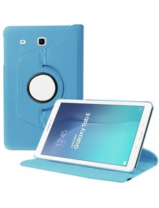 Merkloos Samsung Galaxy Tab E 9.6 inch SM - T560 / T561 Tablet Case met 360° draaistand cover hoesje - Blauw