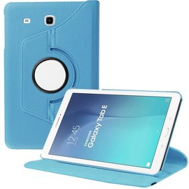 Merkloos Samsung Galaxy Tab E 9.6 inch SM - T560 / T561 Tablet Case met 360° draaistand cover hoes kleur Blauw