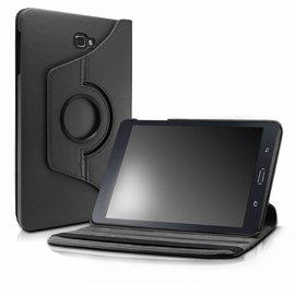 Merkloos - Samsung Galaxy Tab A 10,1 SM T580 / T585 Tablet Case met 360° draaistand cover hoes kleur Zwart