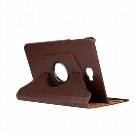 Merkloos Samsung Galaxy Tab A 10,1 SM T580 / T585 Tablet Case met 360° draaistand cover hoes kleur Bruin