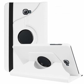 Merkloos Samsung Galaxy Tab A 10,1 SM - T580 / T585 Tablet Case met 360° draaistand cover hoes kleur wit