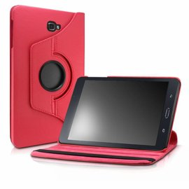 Merkloos Samsung Galaxy Tab A 10,1 SM T580 / T585 Tablet Case met 360° draaistand cover hoes kleur Rood