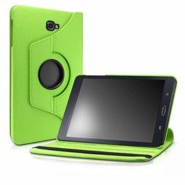 Merkloos Samsung Galaxy Tab A 10,1 SM T580 / T585 Tablet Case met 360° draaistand cover hoes kleur Groen