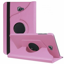 Merkloos Samsung Galaxy Tab A 10,1 SM T580 / T585 Tablet Case met 360° draaistand cover hoes kleur Licht Roze