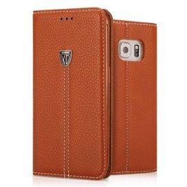 Xundd Samsung Galaxy S7 Edge bookstyle Luxury Magnetic Flip wallet hoesje met Stand Bruin
