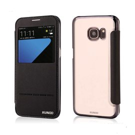 Xundd Samsung Galaxy S7 Edge flip folio Peik window view case cover hoesje Zwart