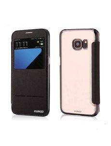 Xundd Samsung Galaxy S7 flip folio Peik window view case cover hoesje Zwart