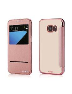 Xundd Samsung Galaxy S7 flip folio Peik window view case cover hoesje Rose Goud