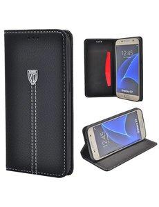 Xundd Noble Slim Fit PU leather wallet Case Hoesje met stand voor Samsung Galaxy S7 Zwart