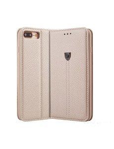 Xundd iPhone 7 4.7 inch leer wallet boektype hoesje met stand Champagne Goud