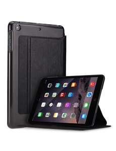 Xundd iPad Mini / Mini 2 / Miini 3 Folio Flip PU Leather hoesje met transparant backcover Zwart