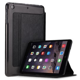 Xundd iPad Mini / Mini 2 / Miini 3 Folio Flip PU Leather hoesje met transparant back cover Zwart