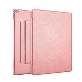 Xundd iPad Mini / Mini 2 / Miini 3 Folio Flip PU Leather hoesje met transparant back cover Rose Goud