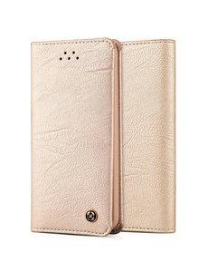 Merkloos iPhone 5 / 5S / SE zachte hand voelen en handig hoesje Champagne Goud