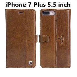 Pierre Cardin Pierre Cardin iPhone 7 Plus Lederen Cover hoesje Bruin