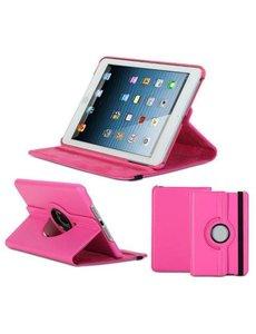 Merkloos Apple iPad Mini / Mini 2 Case, 360 graden draaibare Hoes, Cover - Roze / Pink