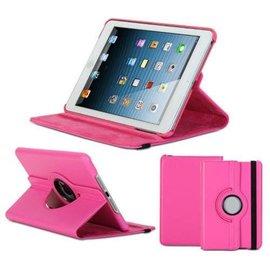 Merkloos Apple iPad Mini / Mini 2 Case, 360 graden draaibare Hoes, Cover met Multi-stand Kleur Roze / Pink