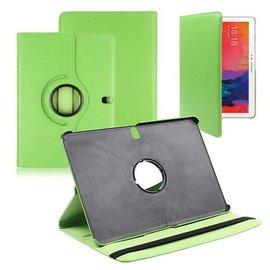 Merkloos Samsung Galaxy Tab Pro 10.1 Tablet Hoes cover 360 graden draaibaar met Multi-stand kleur Groen